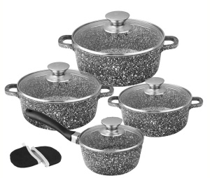 8 pcs Cookware Set with non-stick Granite coating BRUNBESTE BB-1941