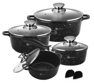 8 pcs Cookware Set with non-stick Granite coating BRUNBESTE BB-1940
