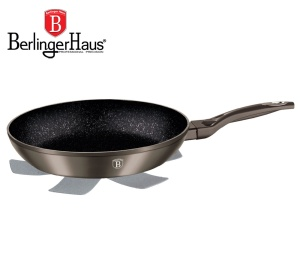 Frying Pan with non-stick Granite coating 28cm BERLINGER HAUS METALLIC LINE CARBON [BH-1231]