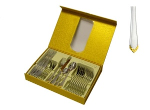 24 pcs Cutlery Set HOFFBURG PRINCESS GOLD  [glossy GOLD] [HB-2856]