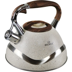 Stainless steel kettle, marbled lacquered 3.0L ZILNER ZL-5701-CR