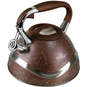 Stainless steel kettle, marbled lacquered 3.0L ZILNER ZL-5701-BR