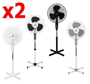 2 x Floor Fan KINGCOOL 40cm [KC-2124]