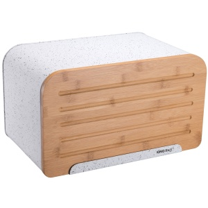 Bread Bin / Breadbox Steel with Cuteboard KINGHOFF [KH-1071]