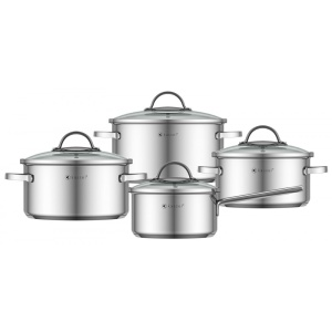 Cookware Set KASSEL ALICE 8 pcs 18/10 [no.93009]