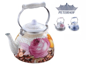 Enamel Whistling Kettle PETERHOF 4.2L [PH-15573]