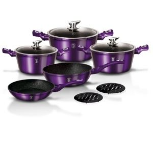 10 pcs Cookware Set BERLINGER HAUS METALLIC ROYAL PURPLE BH-1661-N