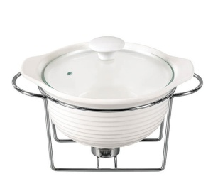 Heat Resistant Dish 1.2L with lid and heater KAMILLE KM-6400