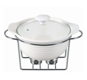 Heat Resistant Dish 2.4L with lid and heater KAMILLE KM-6401