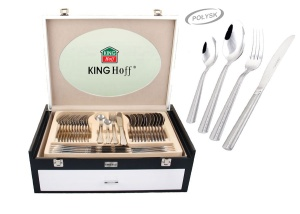 72 pcs Stainless Steel Cutlery Set Silver Glossy 12 person KINGHOFF KH-3550