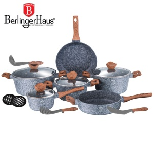 Cookware Set BERLINGER HAUS FOREST LINE 15 pcs [BH-1213]