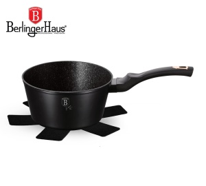 Saucepan with Granite coating 1.2L 16cm BERLINGER HAUS BLACK ROSE [BH-1637-N]