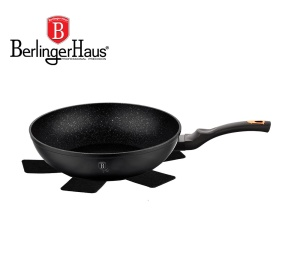 Frying Pan with non-stick Granite coating / Wok 28cm BERLINGER HAUS BLACK ROSE [BH-1638-N]