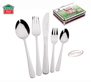 72 pcs Stainless Steel Cutlery Set Silver Satin 12 person KINGHOFF KH-3561