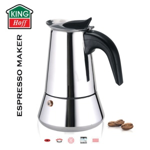 Espresso Coffee Maker ESPRESSO KINGHOFF 600ml (12 FILIŻANEK) [KH-1047]