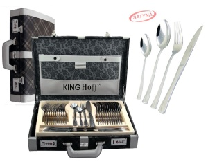 72 pcs Stainless Steel Cutlery Set Silver Satin 12 person KINGHOFF KH-3571
