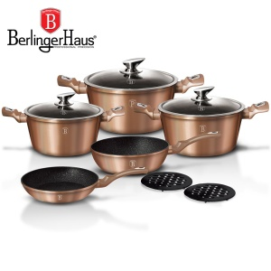 Cookware Set BERLINGER HAUS METALLIC LINE ROSE GOLD 10 pcs [BH-1220-N]