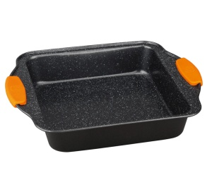Marble coated Baking Mould Squarepan with silicone handle BERLINGER HAUS Granit Diamond Line BH-1135