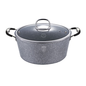 Pot BERLINGER HAUS 6.3L 28cm GRAY STONE TOUCH N [BH-1153-N]