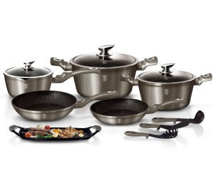 Cookware Set BERLINGER HAUS METALLIC LINE CARBON 12 pcs [BH-1697]