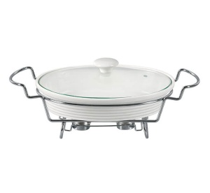 Heat Resistant Dish 2.2L with lid and heater  MAESTRO MR-11460-74