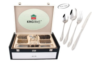 72 pcs Stainless Steel Cutlery Set Silver Glossy 12 person KINGHOFF KH-3548