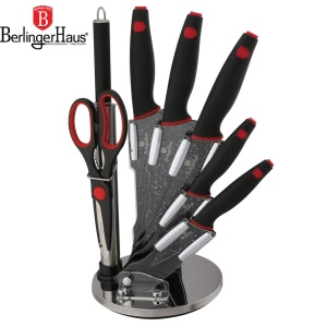 Knive Set 8 pcs  BERLINGER HAUS BLACK STONE TOUCH [BH-2119]