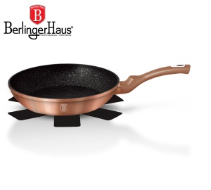 Frying Pan with non-stick Granite coating 24cm BERLINGER HAUS METALLIC ROSE GOLD LINE [BH-1509-N]