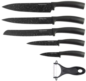 6 pcs Granite coated knife set  SWISS ZURICH SZ-7344