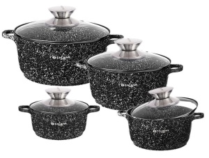 8 pcs Cookware Set with non-stick Marmor coating EDEL HOFF EH-7684