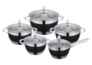 10-piece Cookware set made of stainless steel KLAUSBERG KB-7276